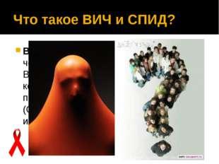 Что такое ВИЧ и СПИД? ВИЧ— вирус иммунодефицита человека, вызывающий заболев