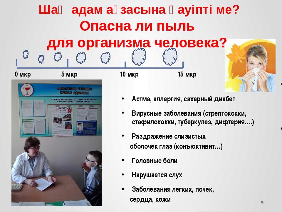 Астма, аллергия, сахарный диабет Вирусные заболевания (стрептококки, стафилок...