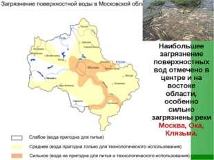 Наибольшее загрязнение поверхностных вод отмечено в центре и на востоке обла