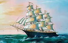 Обои Парусные Корабли Рисованные Живопись ( картина ) Фото 338524