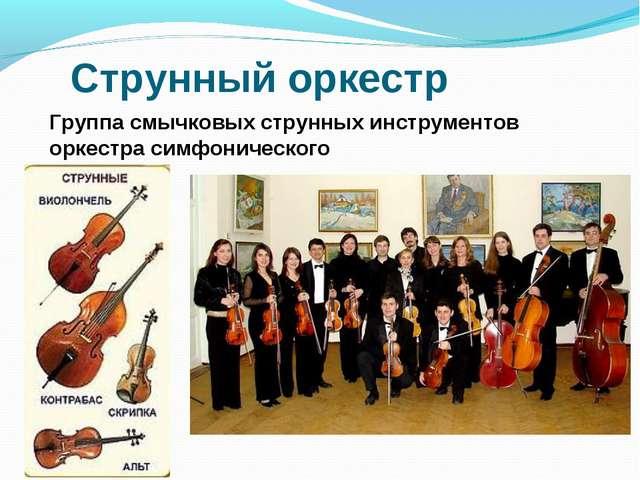 Струнный оркестр Группа смычковых струнных инструментов оркестра симфонического