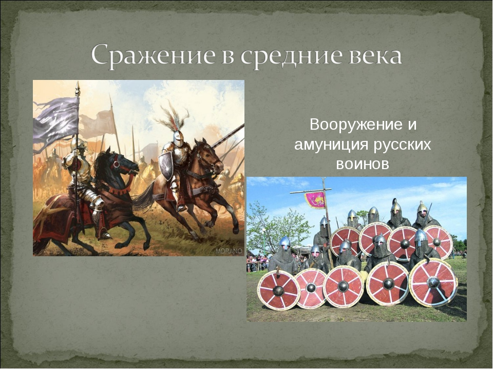 Вооружение и амуниция русских воинов
