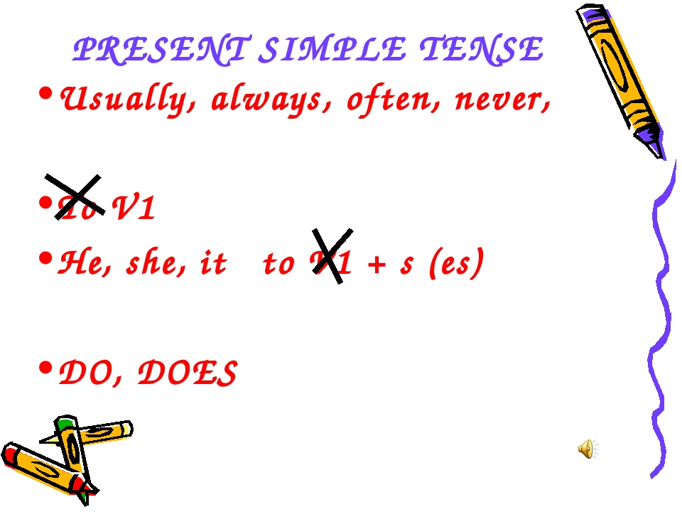 PRESENT SIMPLE TENSE Usually, always, often, never, To V1 He, she, it to V1 +...
