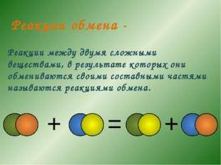 Реакции между двумя сложными веществами, в результате которых они обмениваютс