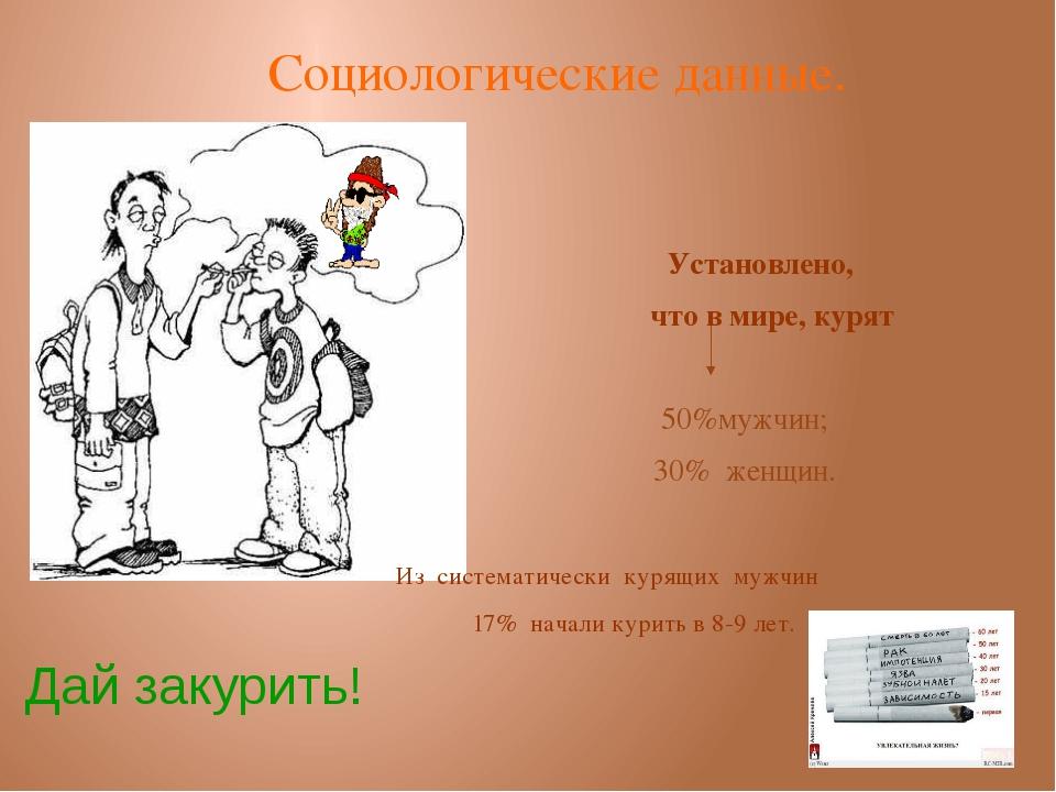 Установлено, что в мире, курят 50%мужчин; 30% женщин. Из систематически куря...