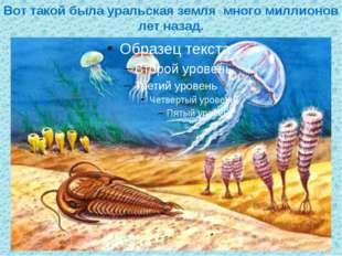 Вот такой была уральская земля много миллионов лет назад.