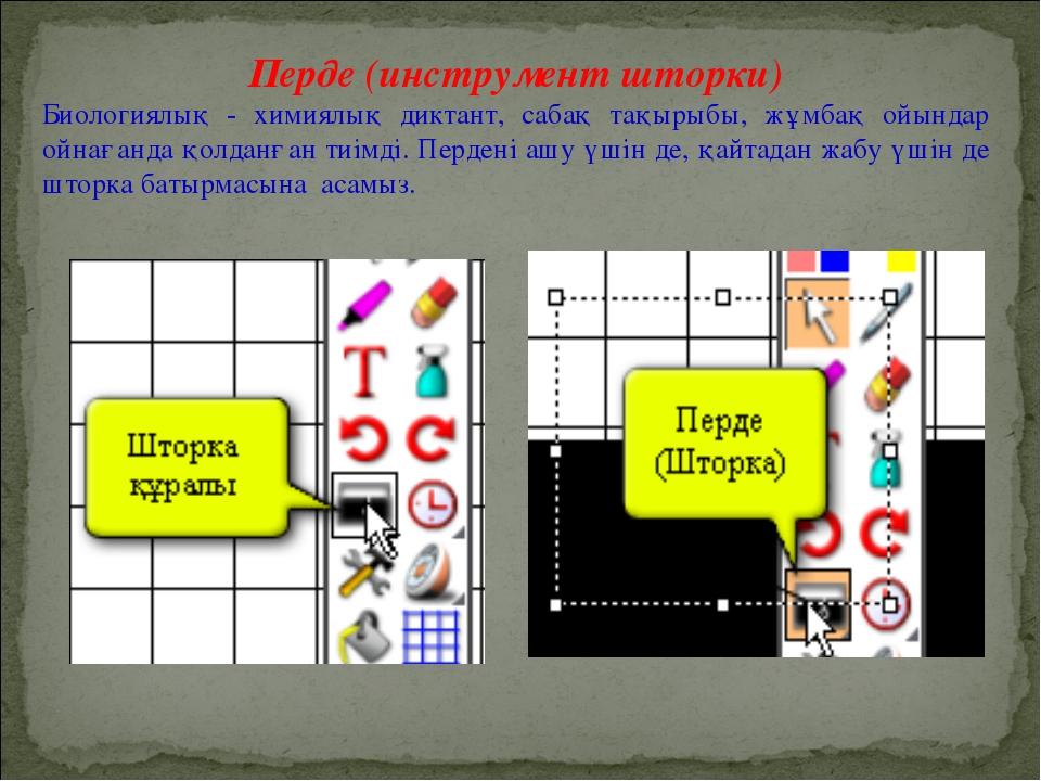 Перде (инструмент шторки) Биологиялық - химиялық диктант, сабақ тақырыбы, жұм...