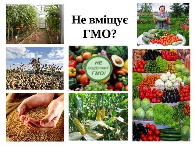Не вміщує ГМО?