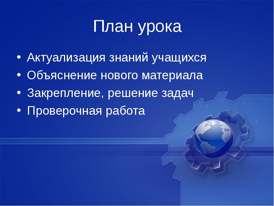 Актуализация знаний учащихся Актуализация знаний учащихся Объяснение нового...