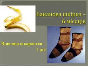 Вовняна шкарпетка – 1 рік
