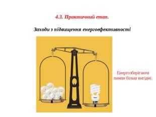 4.3. Практичний етап. Заходи з підвищення енергоефективності Енергозберігаючі