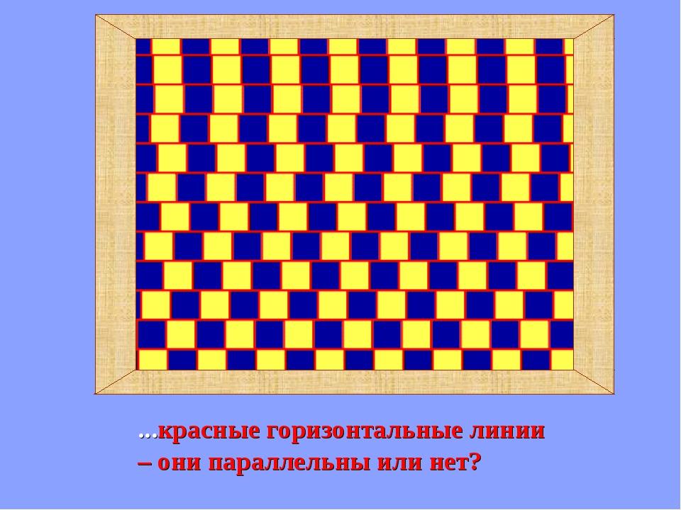 ...красные горизонтальные линии – они параллельны или нет?