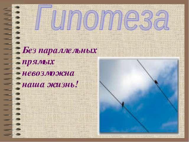 Без параллельных прямых невозможна наша жизнь!