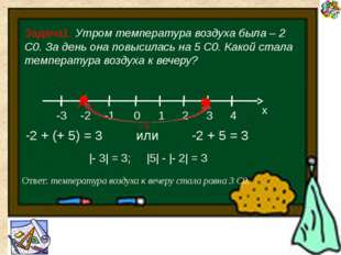 Найти сумму чисел 5,3 и (- 2,7) 5,3 + (- 2,7) = + (5,3 – 2,7) = 2,6 Найти су