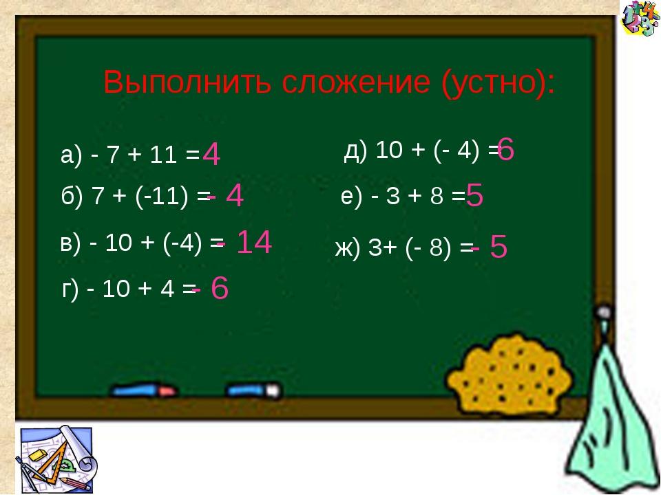 Что нового вы узнали сегодня на уроке? Сформулируйте правило сложения чисел...