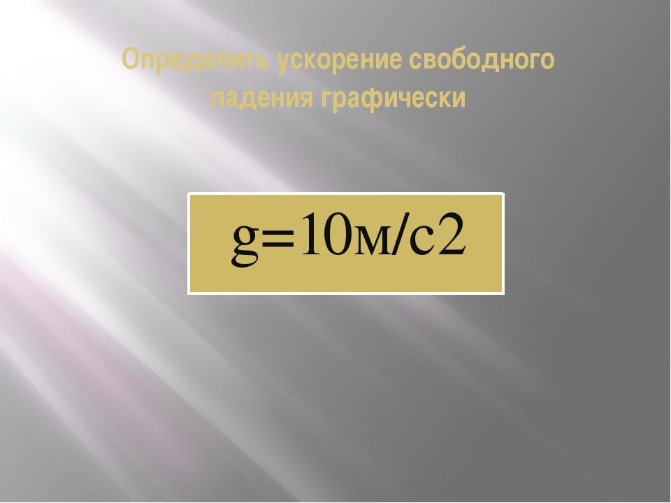 Определить ускорение свободного падения графически g=10м/с2