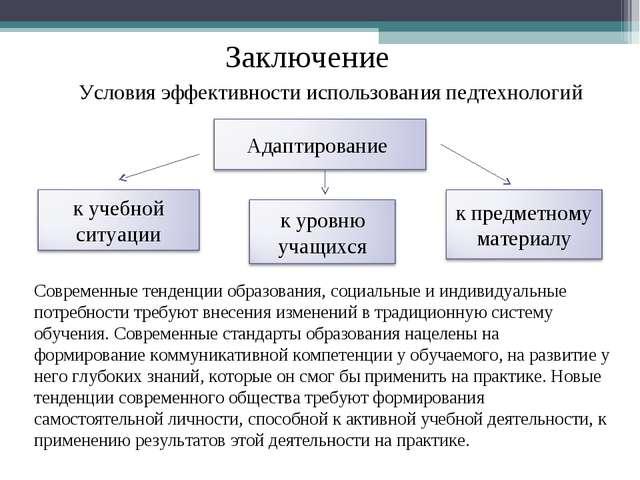 Современные тенденции образования, социальные и индивидуальные потребности тр...
