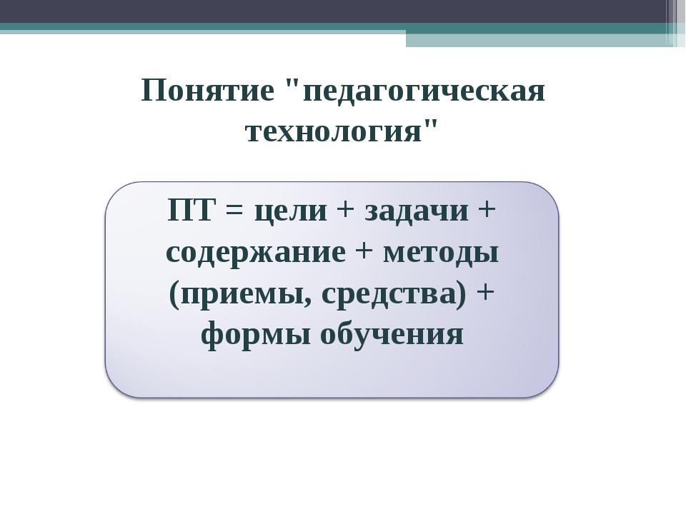 """Понятие """"педагогическая технология"""""""