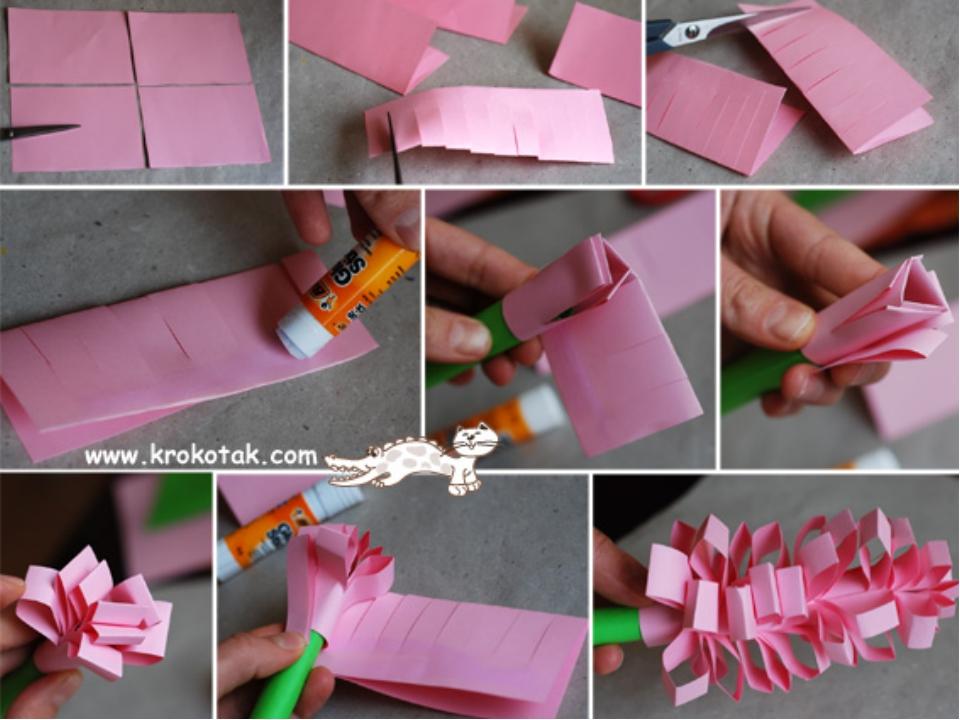 Видео как сделать на 8 марта подарок из бумаги