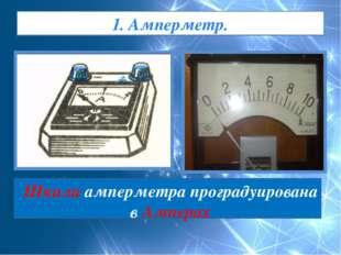 1. Амперметр. Шкала амперметра проградуирована в Амперах
