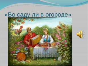 «Во саду ли в огороде»