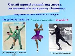 Самый первый зимний вид спорта, включенный в программу Олимпиад. Фигурное ка