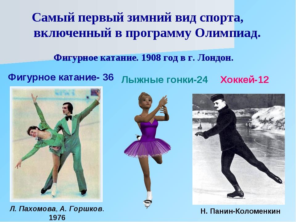 Самый первый зимний вид спорта, включенный в программу Олимпиад. Фигурное ка...