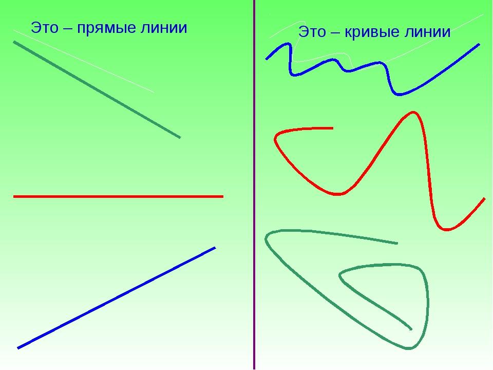 Это – прямые линии Это – кривые линии