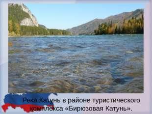 Река Катунь в районе туристического комплекса «Бирюзовая Катунь».