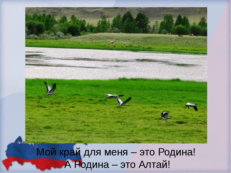 Мой край для меня – это Родина! А Родина – это Алтай!