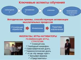 Методические приемы, способствующие активизации мыслительных процессов РАЗВИВ