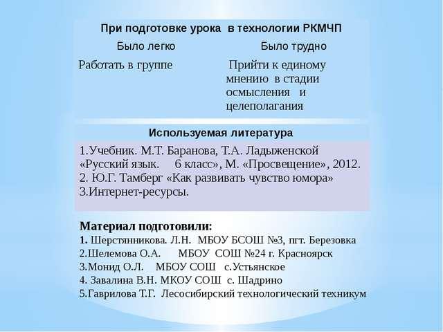 Материал подготовили: 1. Шерстянникова. Л.Н. МБОУ БСОШ №3, пгт. Березовка 2....