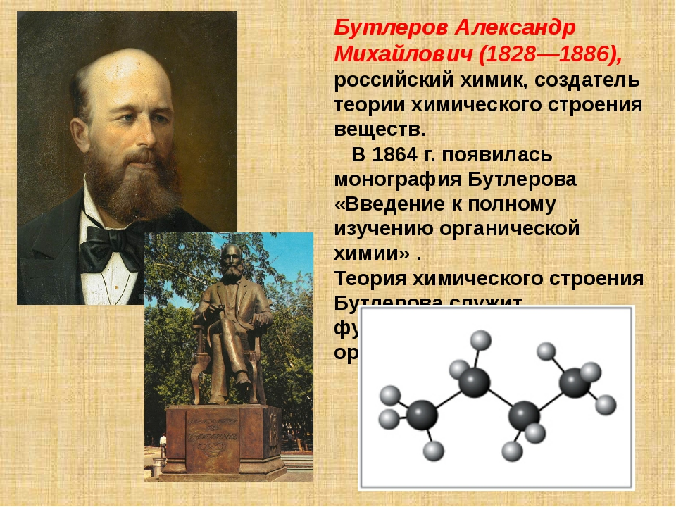 Бутлеров Александр Михайлович (1828—1886), российский химик, создатель теории...