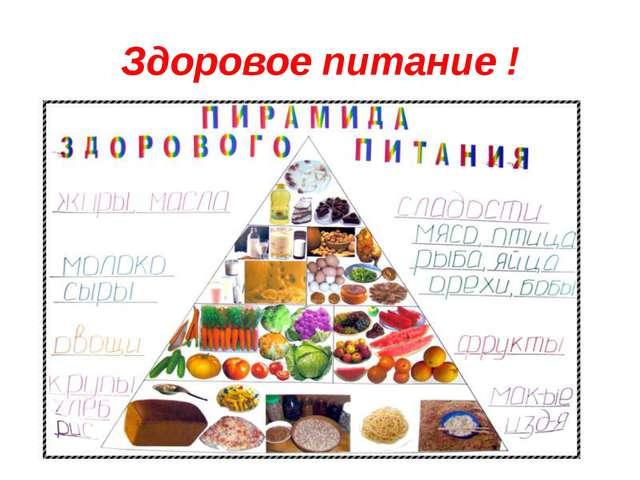 Здоровое питание !