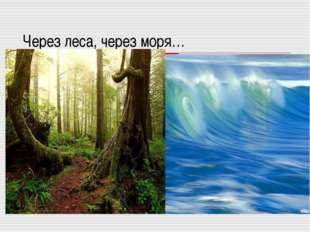 Через леса, через моря…
