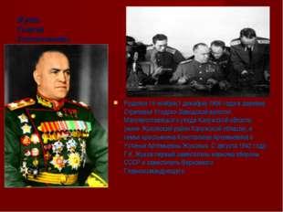 Жуков Георгий Константинович Родился 19 ноября(1 декабря) 1896 года в деревне