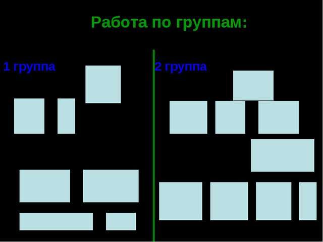 Работа по группам: №242 Вычислите значение выражения 1 группа 1) 3) 2 группа...