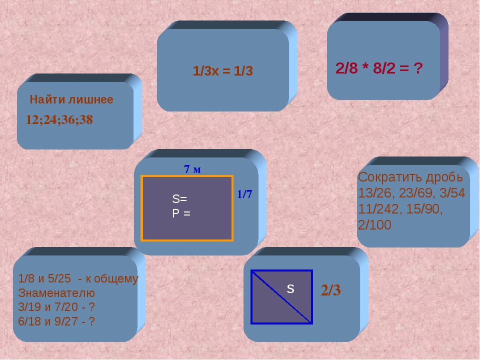 7 м 2/8 * 8/2 = ? S= P = 1/7 s 2/3 12;24;36;38 Найти лишнее 1/3х = 1/3 1/8 и...