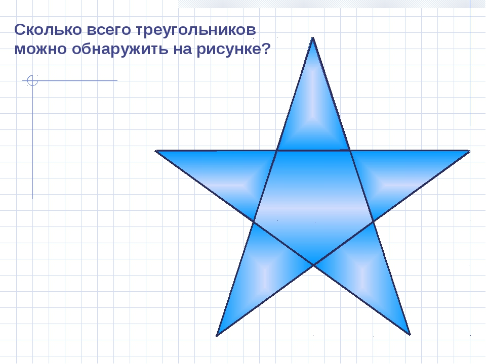 Сколько всего треугольников можно обнаружить на рисунке?