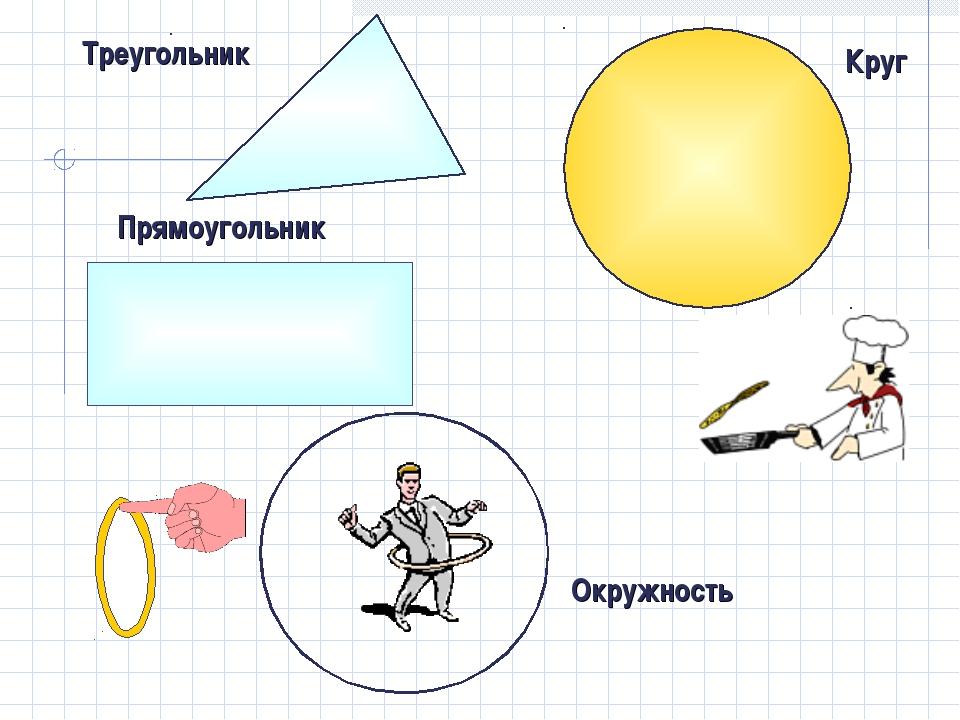 Треугольник Круг Окружность Прямоугольник