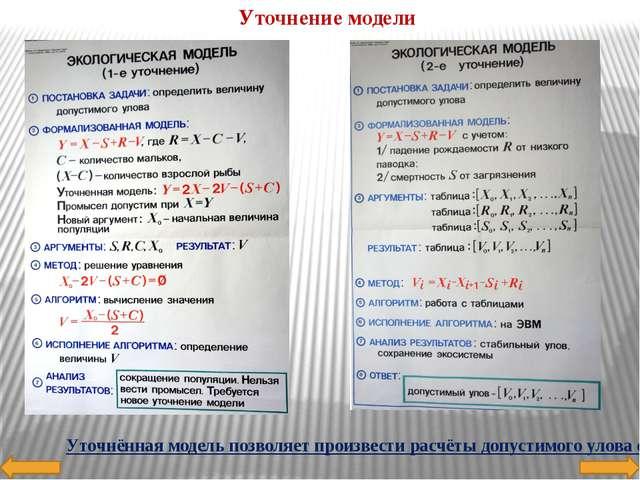 Модель решения задачи Модель решения данной задачи такова: Исходные данные C,...