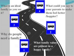 3 1 2 4 Why do people need a family? What family values are present in a hap