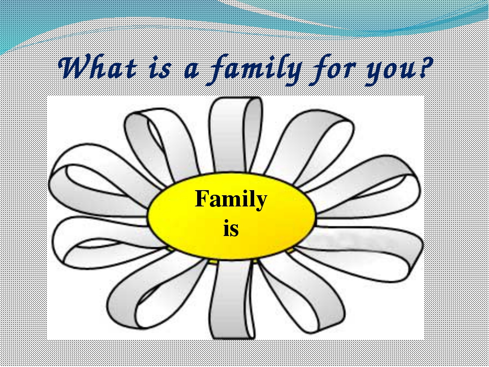 What is a family for you? Family is