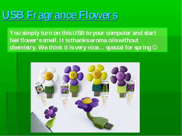 USB Fragrance Flowers You simply turn on this USB to your computer and start...