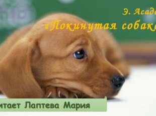 Э. Асадов «Покинутая собака»