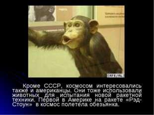 Кроме СССР, космосом интересовались также и американцы. Они тоже использовал