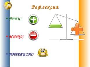 Рефлексия ПЛЮС МИНУС ИНТЕРЕСНО