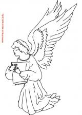 Новая раскраска для детейАнгелы Ангел с библией