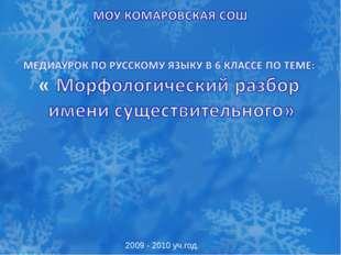 2009 - 2010 уч.год.