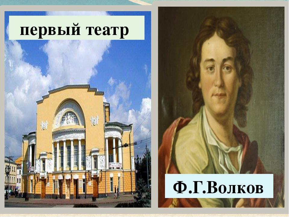 Ф.Г.Волков первый театр